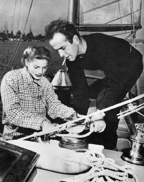 Bogie and Bacall sailing