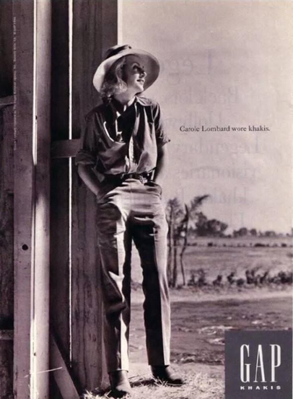 Carole Lombard - Gap campaign