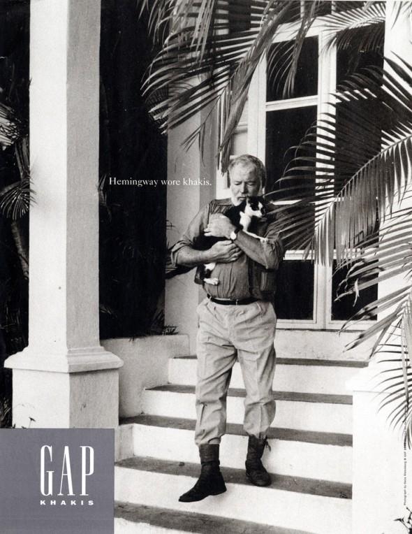 Ernest Hemingway Gap Khakis campaign