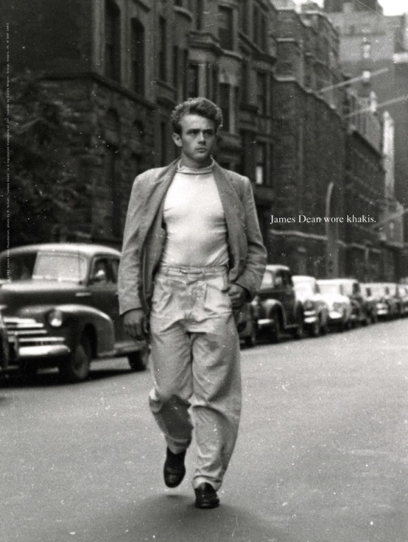 James Dean Wore Khakis-Gap campaign