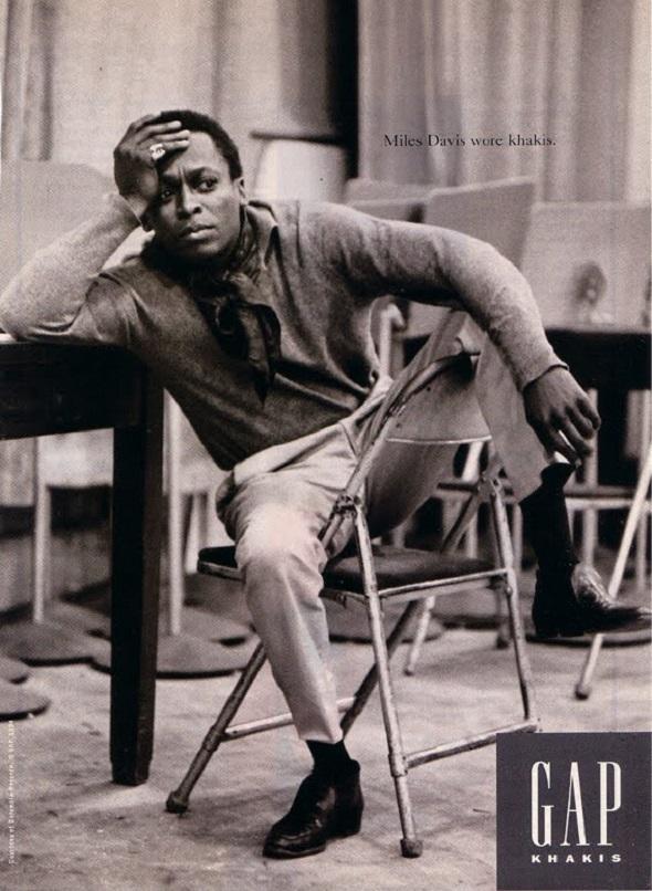 Miles Davis Wore Khakis-Gap campaign