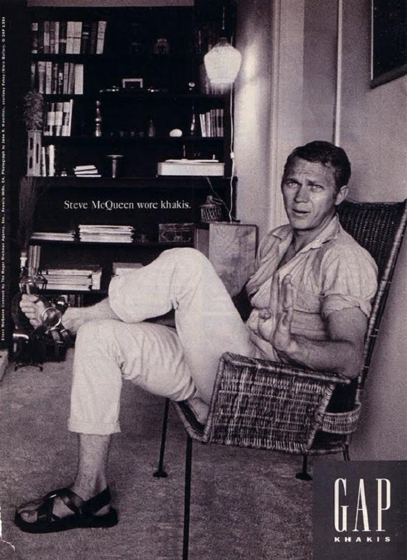 Steve McQueen Gap khakis Campaign