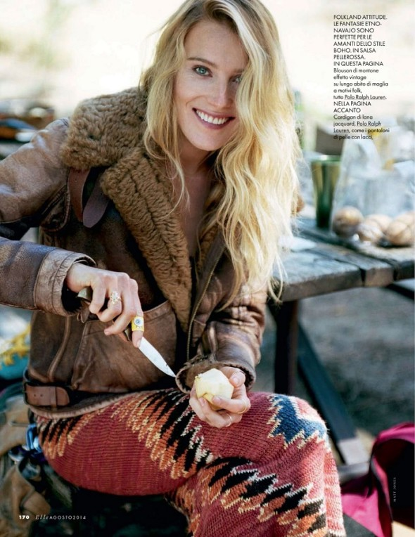 Dree Hemingway in Polo Ralph Lauren-Elle Italia August 2014