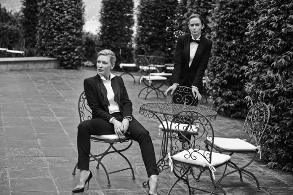Cate Blanchett and Emily Blunt by Peter Lindbergh for IWC Portofino Midsize