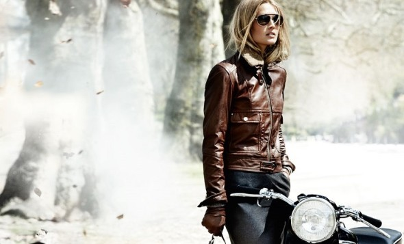 Style note-The leather jacket
