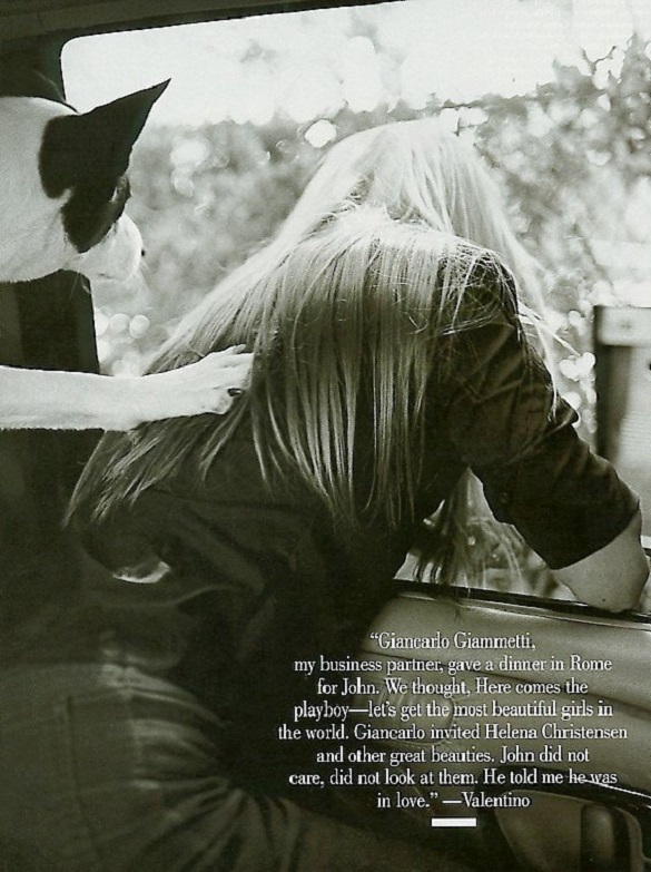 Carolyn Bessette Kennedy by Bruce Weber Vanity Fair September 1999