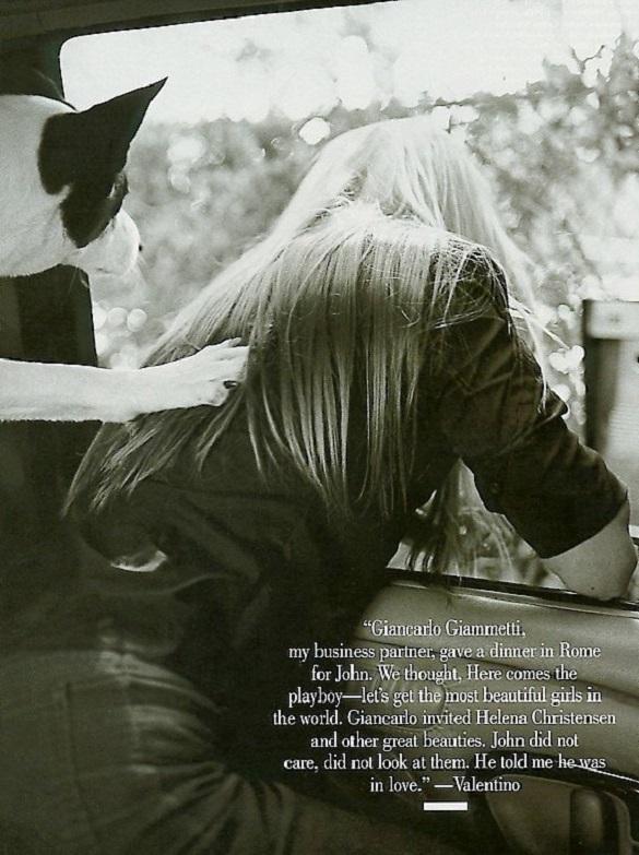 Carolyn Bessette Kennedy by Bruce Weber Vanity Fair September 1999