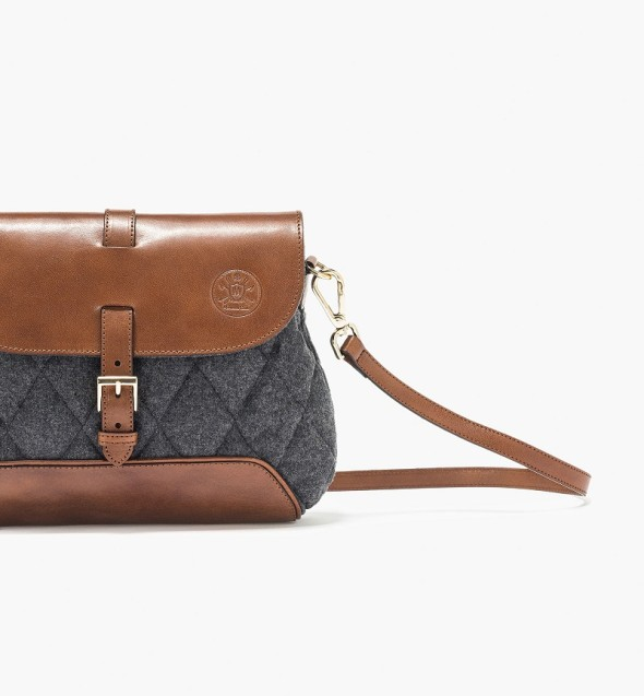 Massimo Dutti quilted messenger bag