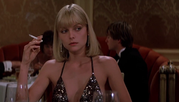 Michelle Pfeiffer's Halston-style costumes Scarface