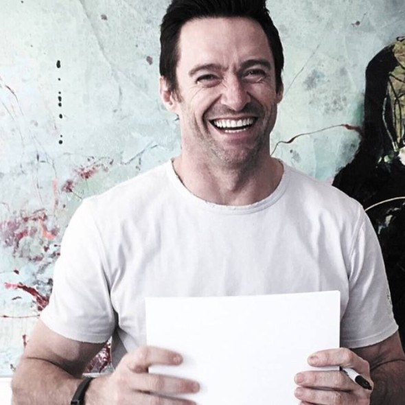 Hugh Jackman in a Road 22 Burke t-shirt