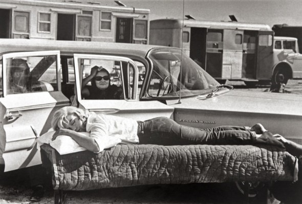 Marilyn Monroe by Eve Arnold on the set of a The Misfits