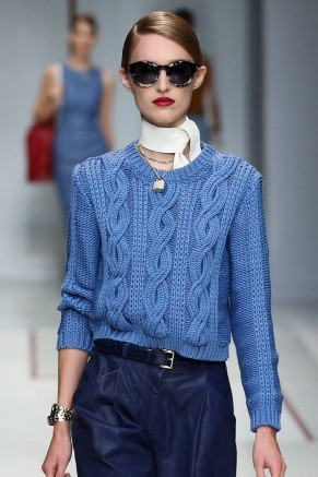 Spring 2015 trends-knotted scarf-Trussardi