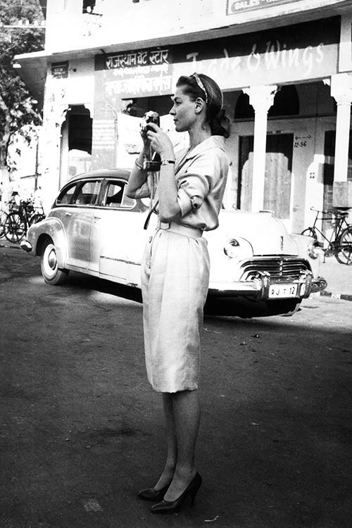 Lauren Bacall Jaipur India 1958