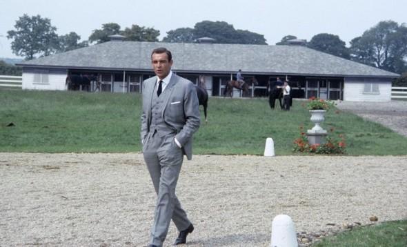Sean Connery James Bond suit Goldfinger