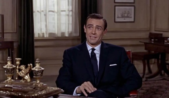 Sean Connery navy suit From Russia with Love