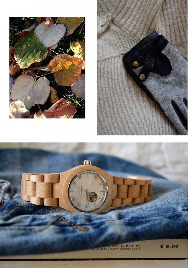 More wood watch-Cora Maple and Silver-Classiq