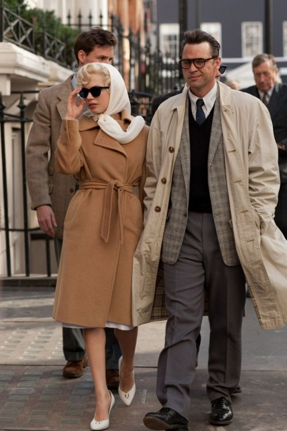 Michelle Williams camel coat My Week with Marilyn