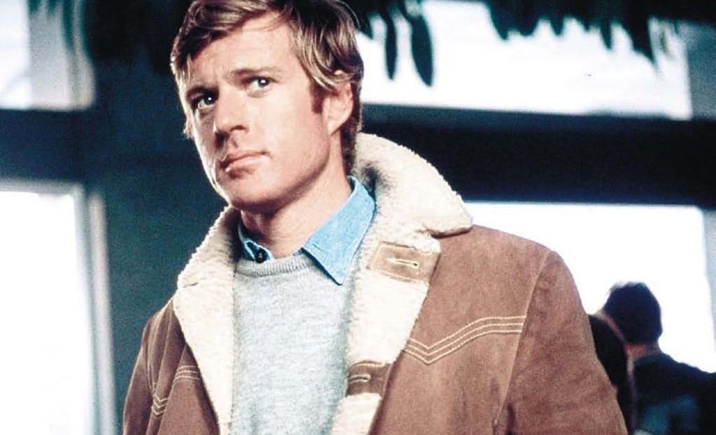 Robert Redford shearling coat