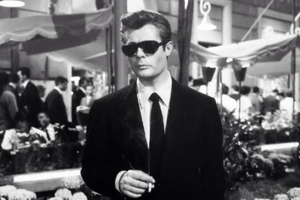 Best sunglasses in film - Marcello Mastroianni la dolce vita