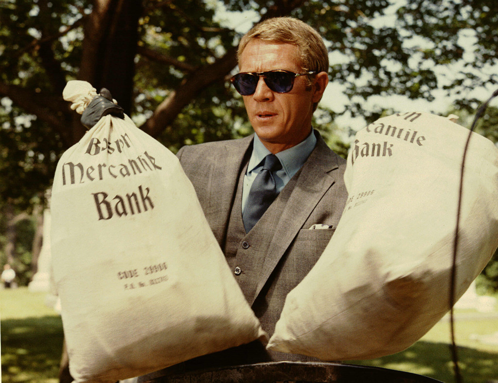 best sunglasses in movies - Steve McQueen in The Thomas Crown Affair