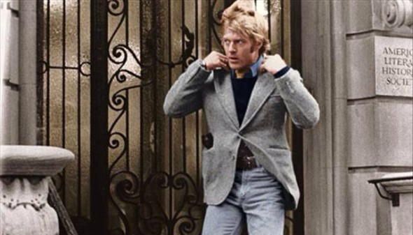 Robert Redford preppy look Three Days of the Condor