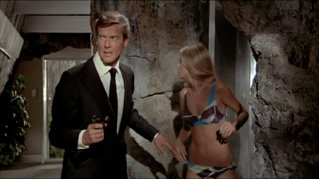 Roger Moore James Bond style