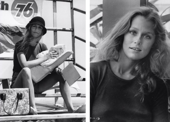 Lauren Hutton on the set Little Fauss and Big Halsy