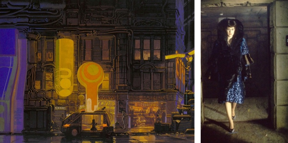 Syd Mead art Sean Young Blade Runner
