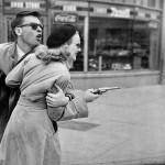 Film noir style Peggy Cummins in Gun Crazy