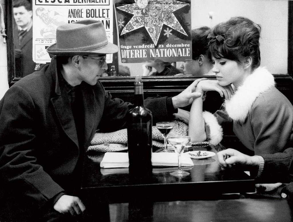 Jean Luc Godard and Anna Karina by Raymond Cauchetier