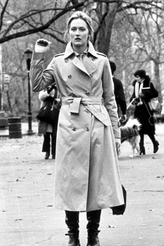 Meryl Streep trench coat Kramer vs Kramer