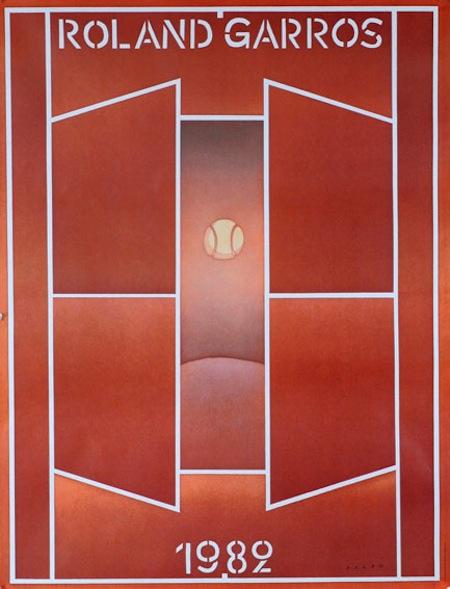 Roland Garros poster 1982