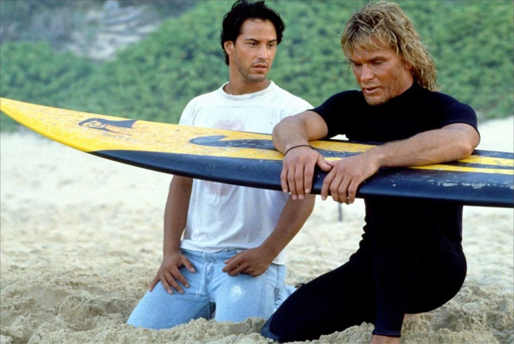 Summer style in movies - Keanu Reeves in Point Break
