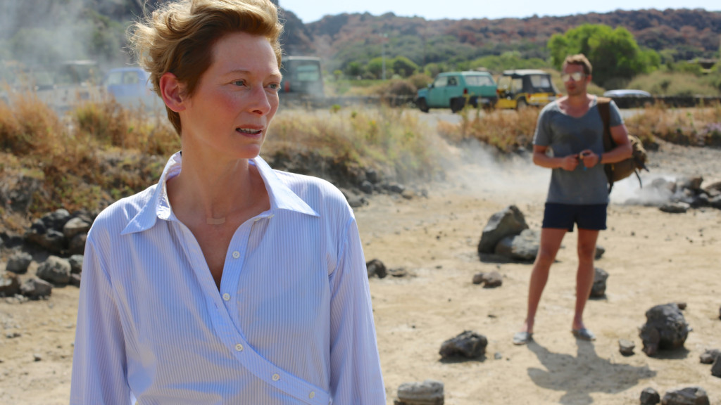 Tilda Swintonand Matthias Schoenaerts in A Bigger Splash