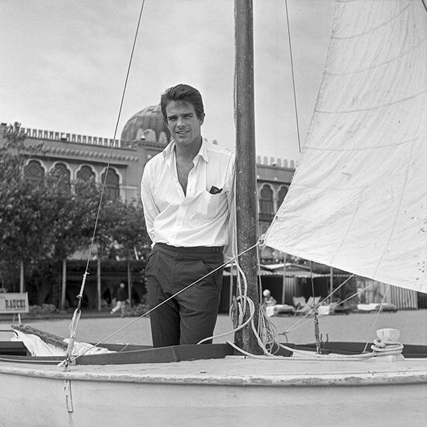 Warren Beatty Venice 1956