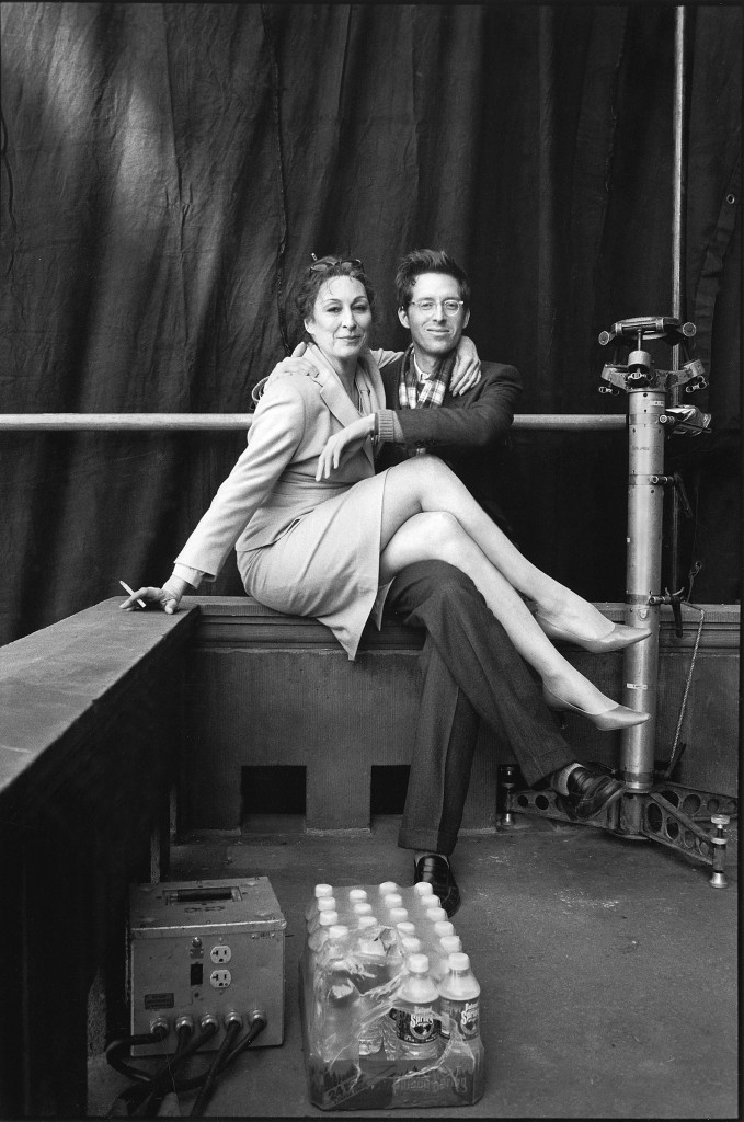 Anjelica Huston and Wes Anderson by Laura Wilson