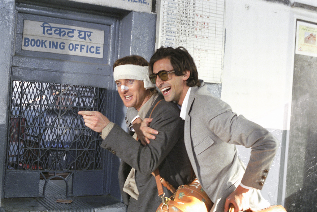 Owen Wilson and Adrien Brody on the set of The Darjeeling Limited - Laura Wilson