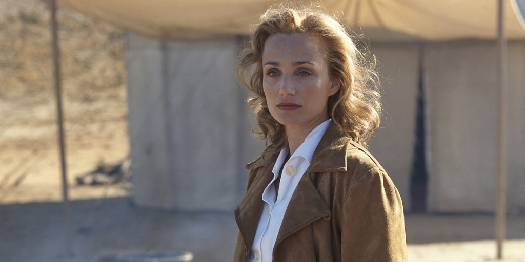 Kristin Scott Thomas in The English Patient - The flying jacket