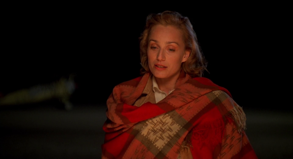 A one Woman homage to the flying jacket - Kristin Scott Thomas in The English Patient